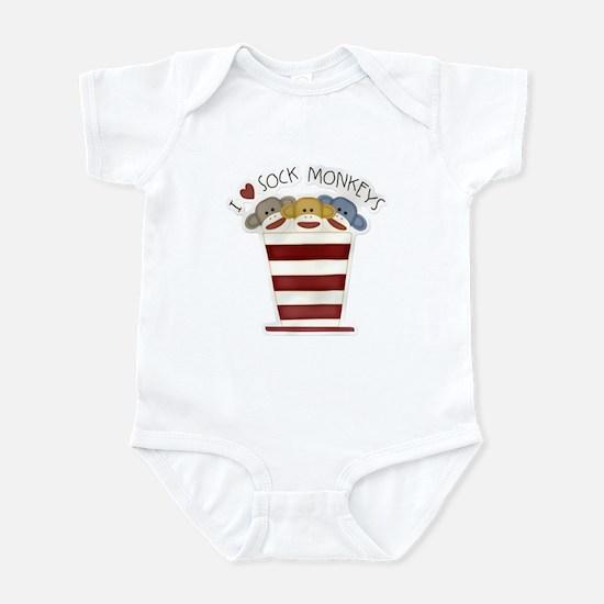 Love Sock Monkeys Infant Bodysuit