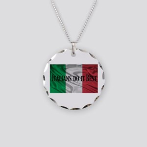 Italians Do It Best Necklace Circle Charm