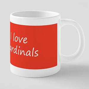 Cardinal on Branch 20 oz Ceramic Mega Mug