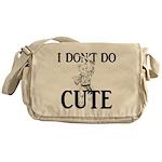 I Don't Do Cute - Cat Messenger Bag