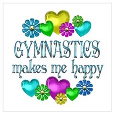 Gymnastics Happiness Canvas Art
