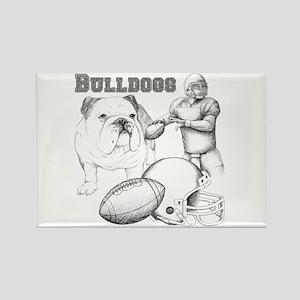 Bulldog Collage Rectangle Magnet