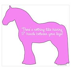 17 hands draft horses. Poster