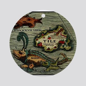 """Thule Map"" Ornament (Round)"
