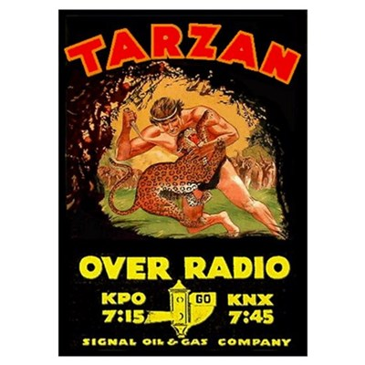 Large Tarzan Radio Show Poster