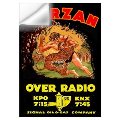 Large Tarzan Radio Show Wall Decal