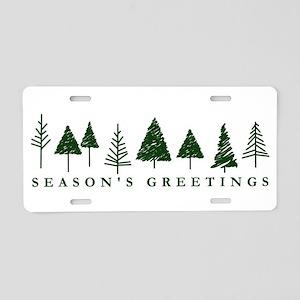 Green Christmas Tree Aluminum License Plate
