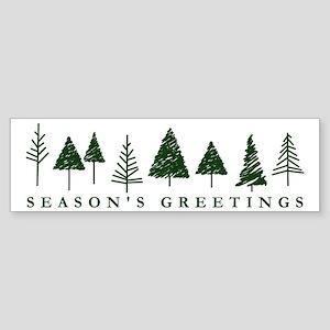 Green Christmas Tree Sticker (Bumper)