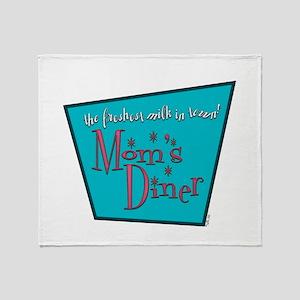 Mom's Diner Breast Milk Throw Blanket