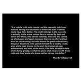 Teddy roosevelt quotes Framed Prints
