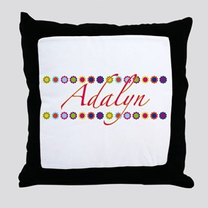 Adalyn with Flowers Throw Pillow