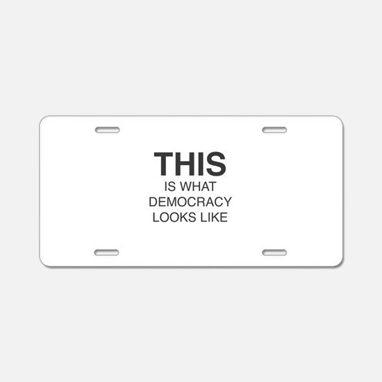 Protest Aluminum License Plate