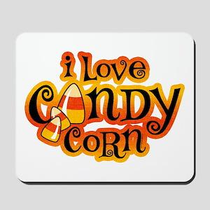 I Love Candy Corn Mousepad