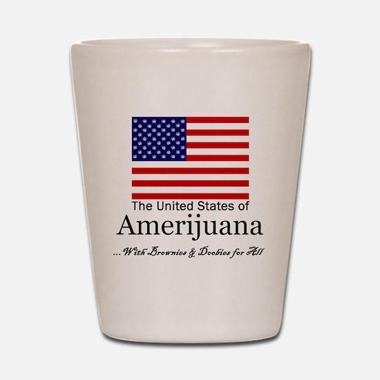 Amerijuana Shot Glass