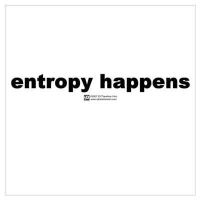 Entropy happens Framed Print
