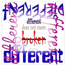 Different does not mean Broken Poster