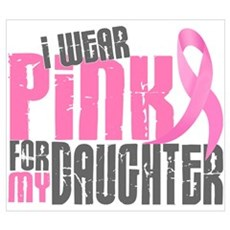 I Wear Pink For My Daughter 6.2 Framed Print