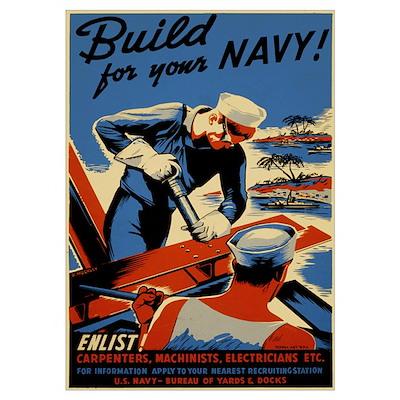 Build Navy Poster