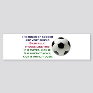 Soccer Sticker (Bumper)