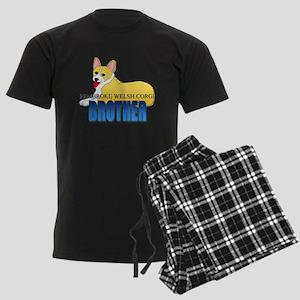 Pembroke Welsh Corgi Brother Men's Dark Pajamas