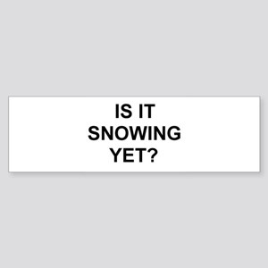 Snow2 Bumper Sticker