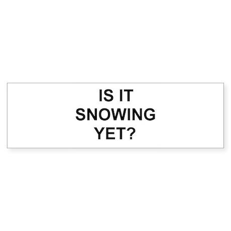 Snow2 Bumper Sticker