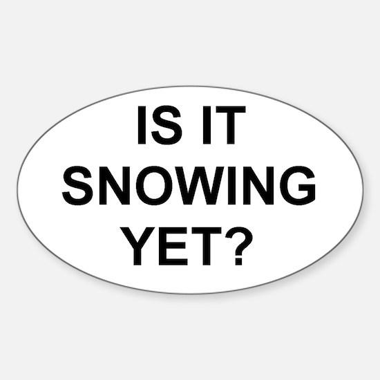 Cute Snow Sticker (Oval)
