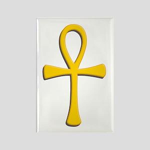 Golden Ankh Rectangle Magnet