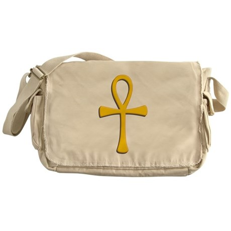Golden Ankh Messenger Bag