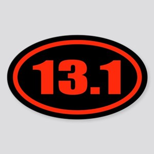 13.1 Half Marathon Oval Sticker (Oval)