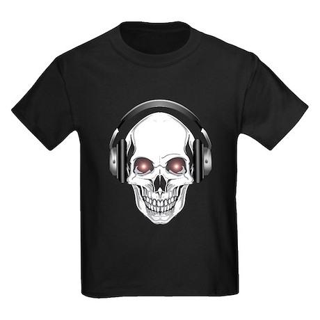 Red Eye DJ Skull Kids Dark T-Shirt