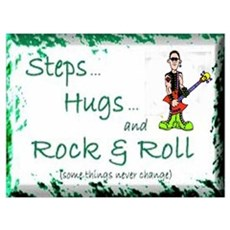 STEPS HUGS ROCKNROLL Framed Print