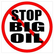 STOP BIG OIL Poster