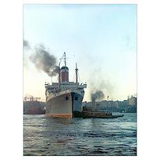 Oceanliner S.S America, 1946 New York Poster