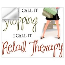 Retail Therapy Wall Decal