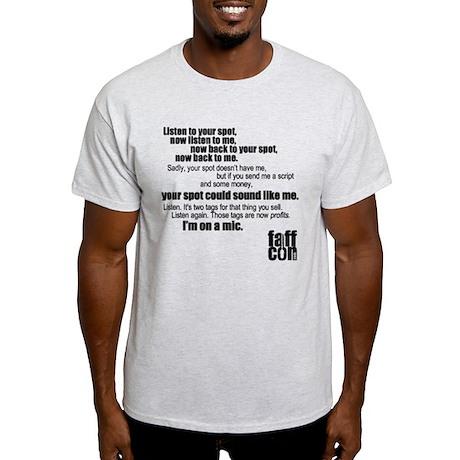 I'm on a mic (long version) Light T-Shirt