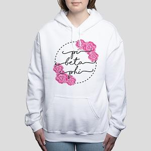 pi beta phi floral Women's Hooded Sweatshirt