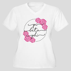 pi beta phi flora Women's Plus Size V-Neck T-Shirt