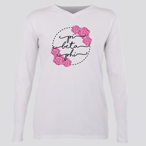 pi beta phi floral Plus Size Long Sleeve Tee