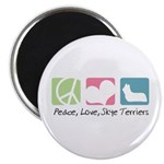 Peace, Love, Skye Terriers Magnet