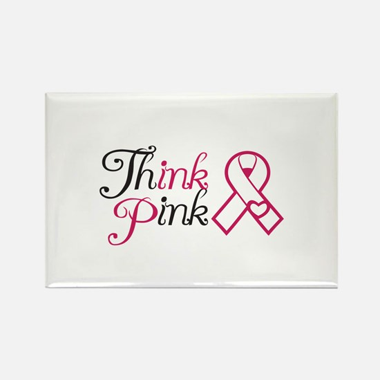 ThinkPink Rectangle Magnet