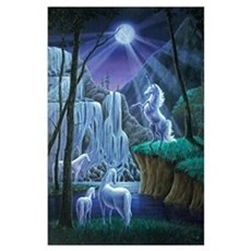Unicorns in the Moonlight Poster