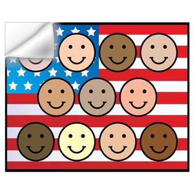 America People of Many Colors Wall Decal