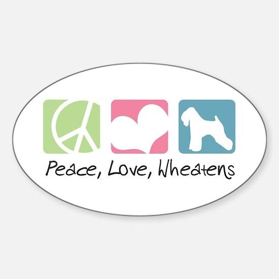 Peace, Love, Wheatens Sticker (Oval)