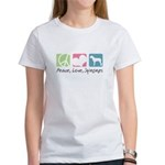 Peace, Love, Spinones Women's T-Shirt