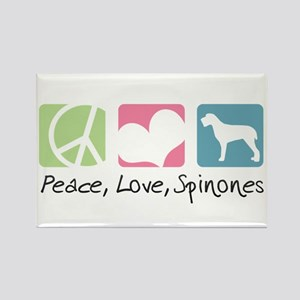 Peace, Love, Spinones Rectangle Magnet