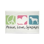 Peace, Love, Spinones Rectangle Magnet (100 pack)