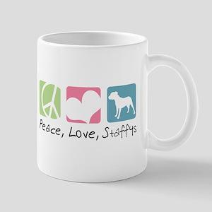 Peace, Love, Staffys Mug