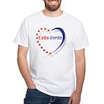 Cabo Verde Stars Heart White T-Shirt