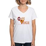 Cape Verde CV Women's V-Neck T-Shirt
